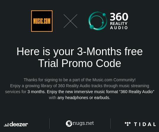 3 maanden gratis Tidal of Deezer (via music.com)