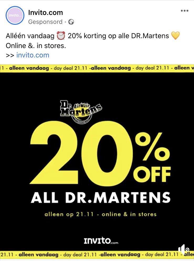 Dr Martens - DAG DEAL! -20% op alle Dr Martens