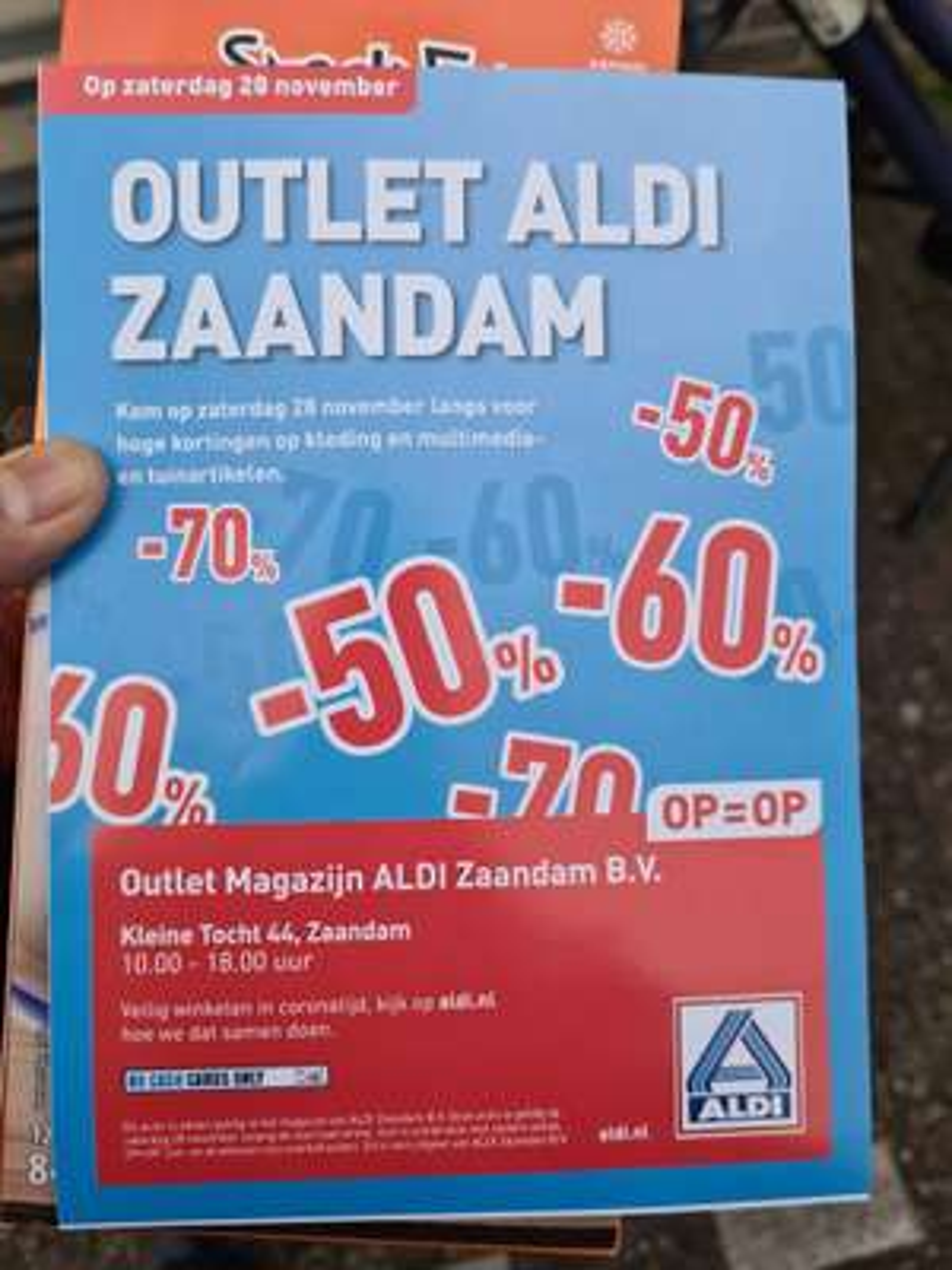 Aldi outlet Zaandam tot 70% Korting