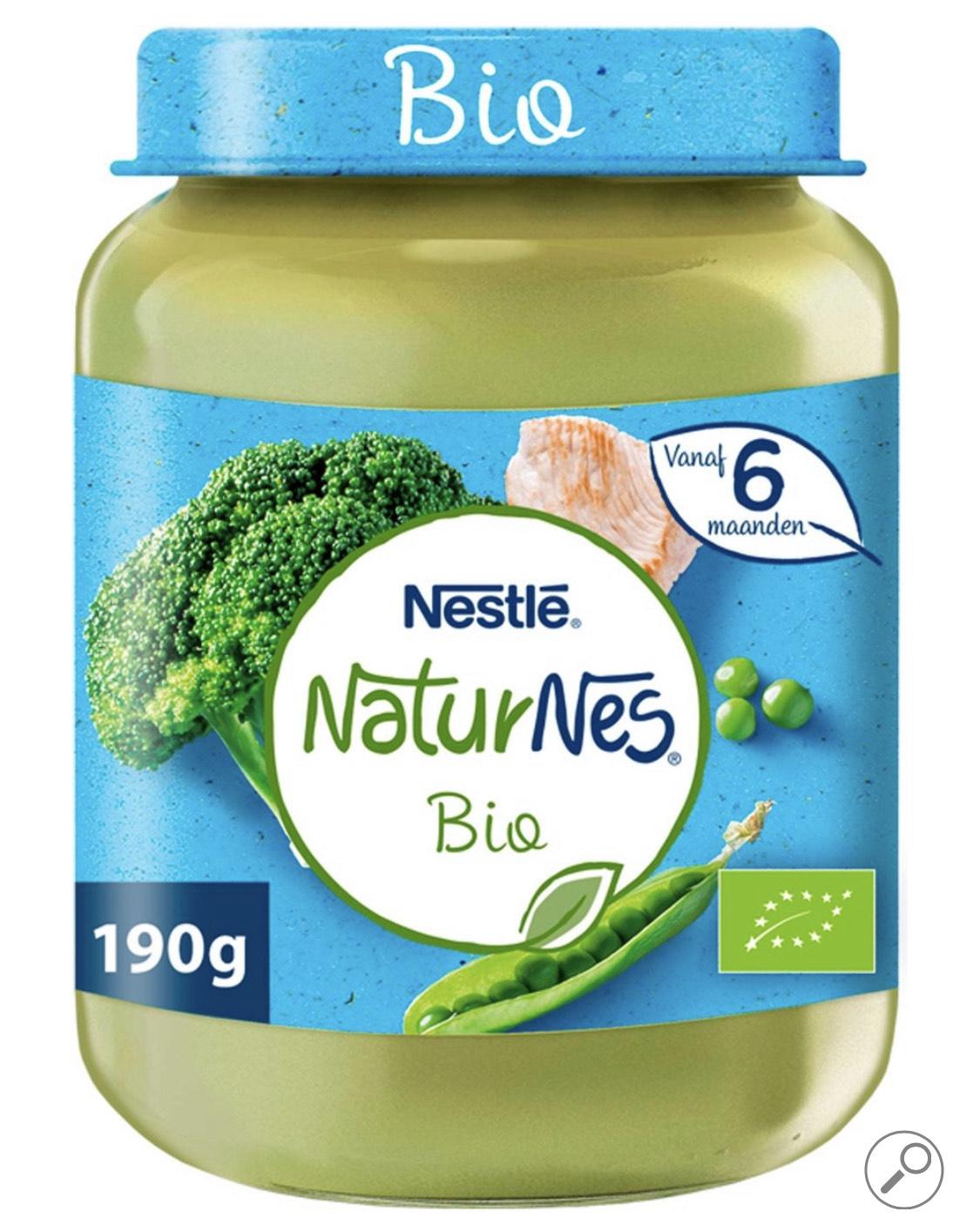 6 potjes NaturNes Bio Baby 6+ maanden Broccoli Doperwten Kalkoen