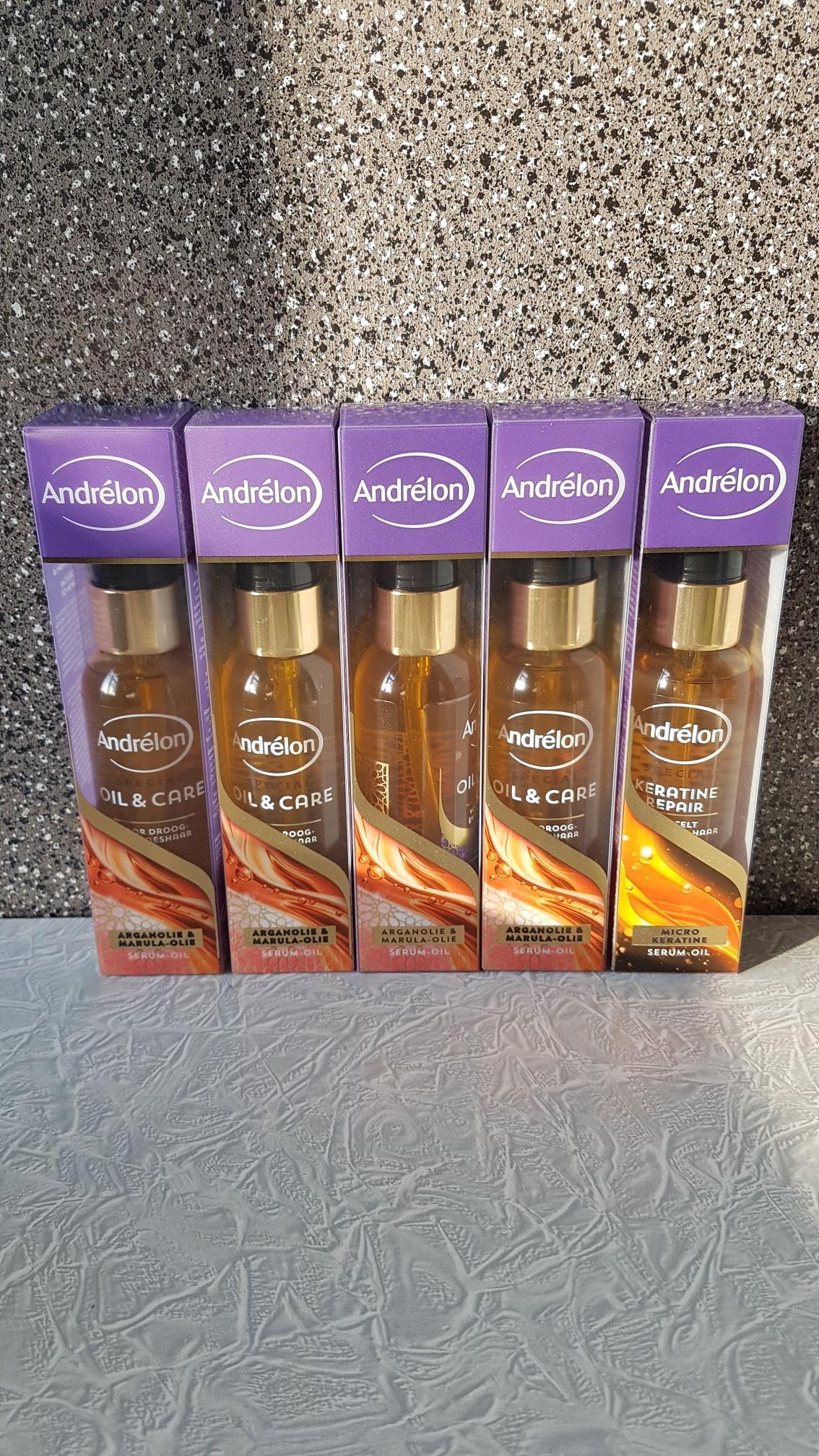 Andrelon serum-oil normale prijs 8.70 per stuk nu 9 euro voor 5 stuks!!!!!