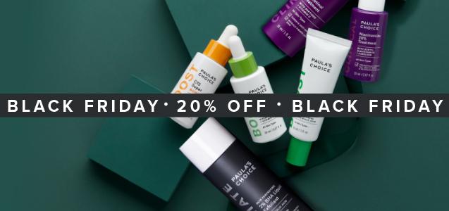 Black Friday deal: 20% korting op bestsellers van Paula's Choice Skincare