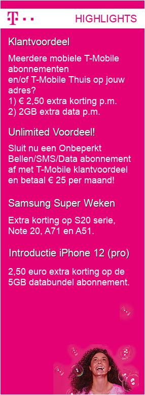 Cashback GSMweb (tot € 140) + cashbackXL (€ 27) op vnl 2-jarige sim only's van T-Mobile, Vodafone, Tele2 en Ben