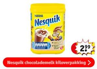 1000g Nesquik Chocolademelk voor €2,99 @ Kruidvat