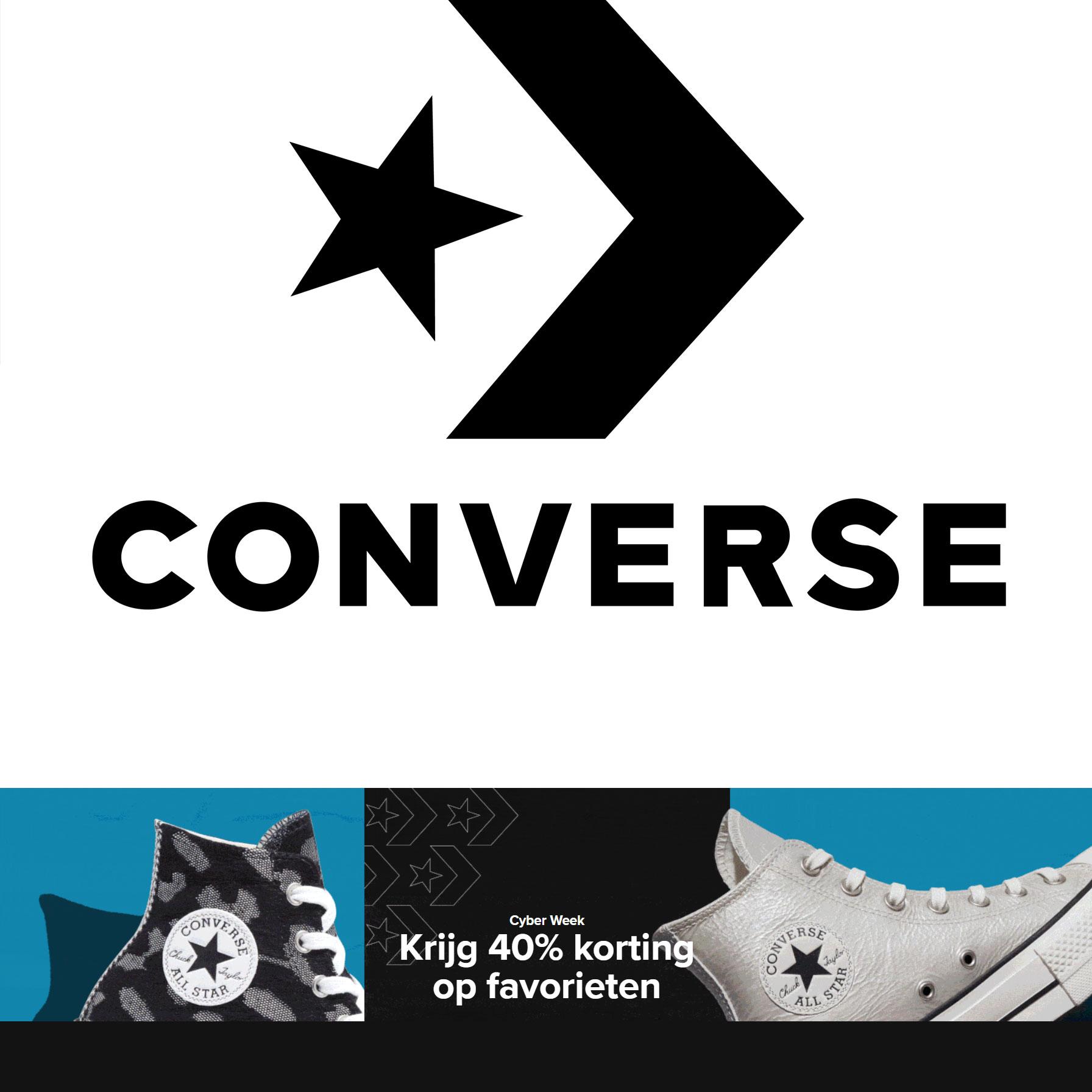 Met code 40% korting op sneakers @ Converse