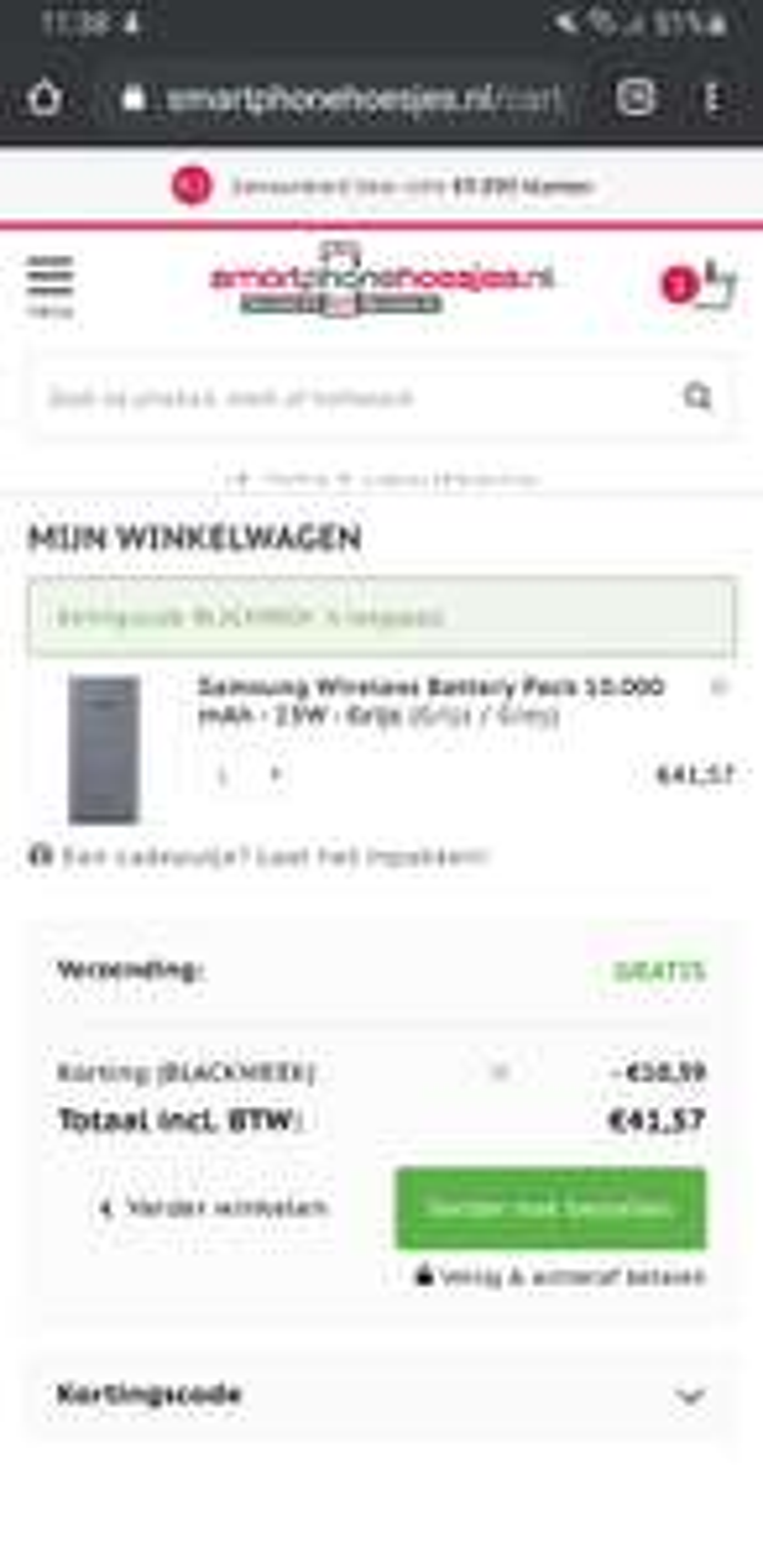 Samsung Wireless Battery Pack 10.000 mAh - 25W - Grijs