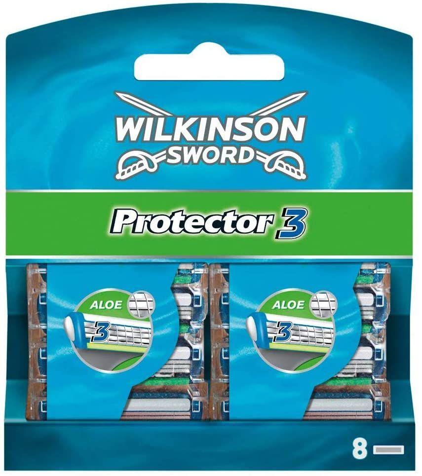 Wilkinson Sword Protector 3 scheermesjes voor heren, 8 scheermesjes