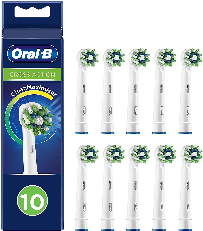 Oral-B CrossAction Opzetborstel, Verpakking Van 10 Stuks
