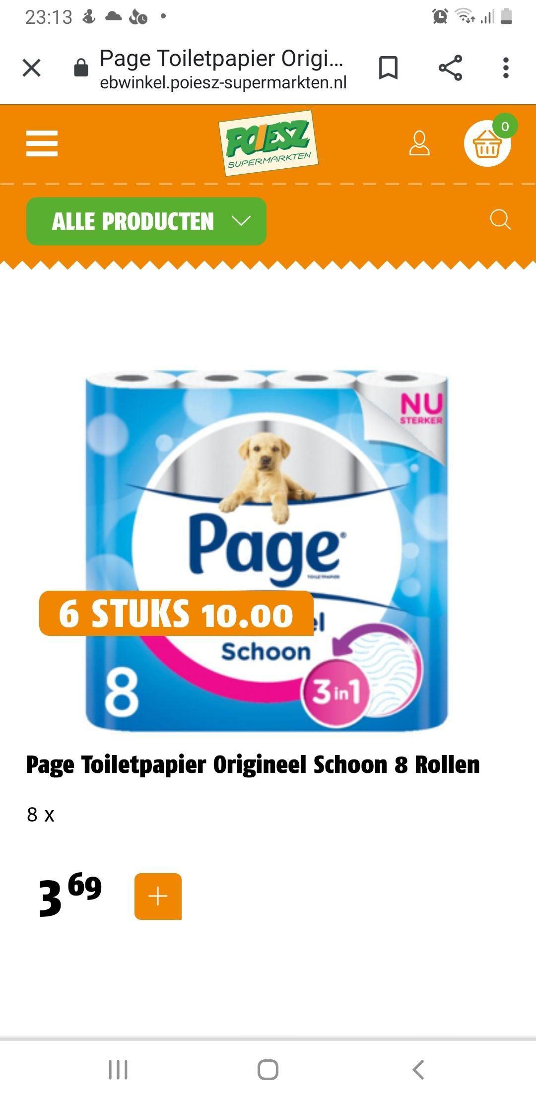 Page toilet papier 48 rollen