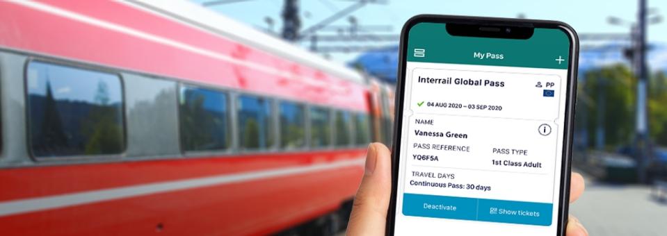 Interrail global pass -20%, volwassene (28+) va €197, jongeren (12-27) va €148