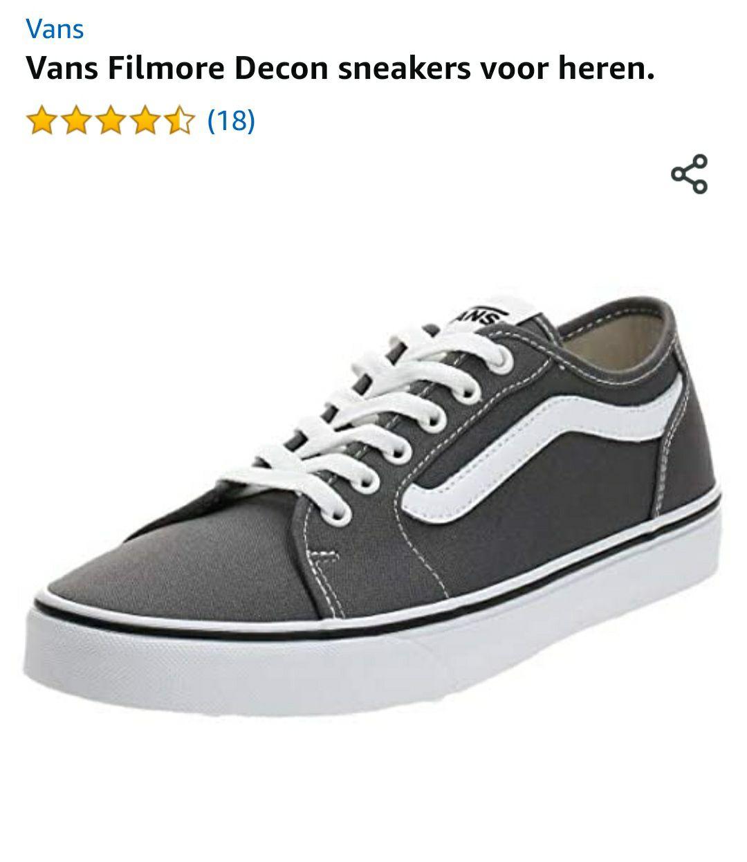 Vans Filmore Decon grijs heren weer voor €20.99