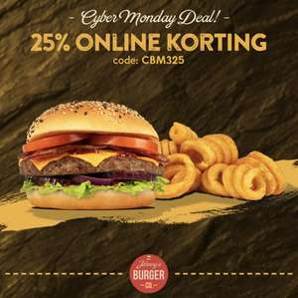 @Johnny's burger 25% korting op je bestelling