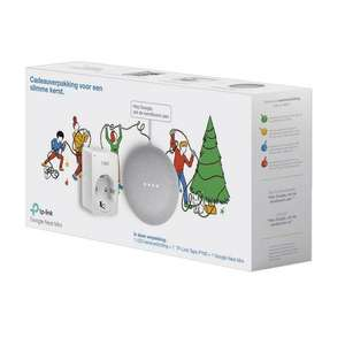Google Nest mini+ smart plug+ gratis kerstverlichting 180 LEDS