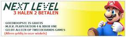 3 halen 2 betalen op gebruikte games @ Next-Level (Amersfoort, Amsterdam en Hilversum)