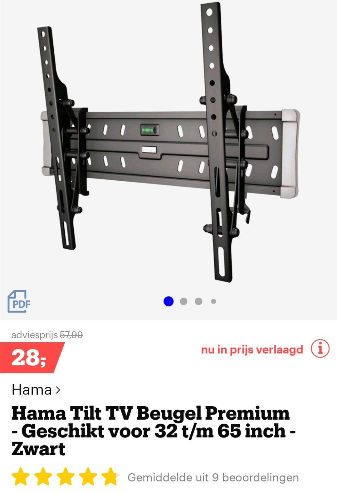 Hama Tilt TV beugel Premium