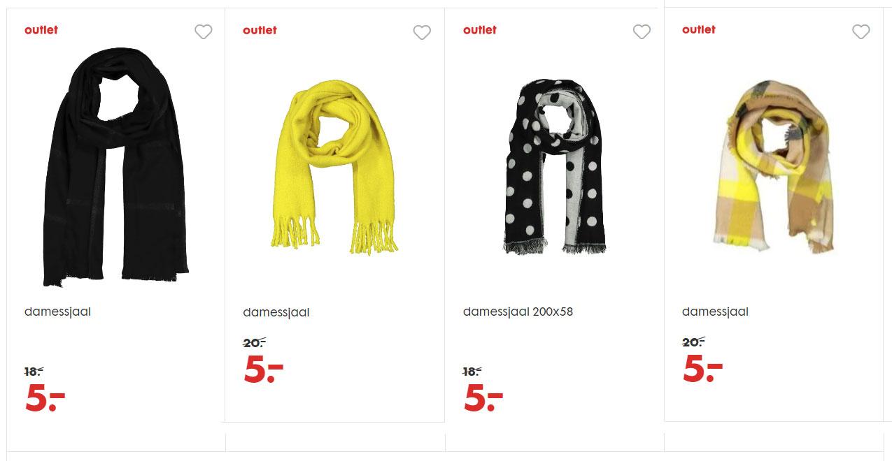 Diverse dames sjaals €5 p.s. [waren €18-20] @ HEMA