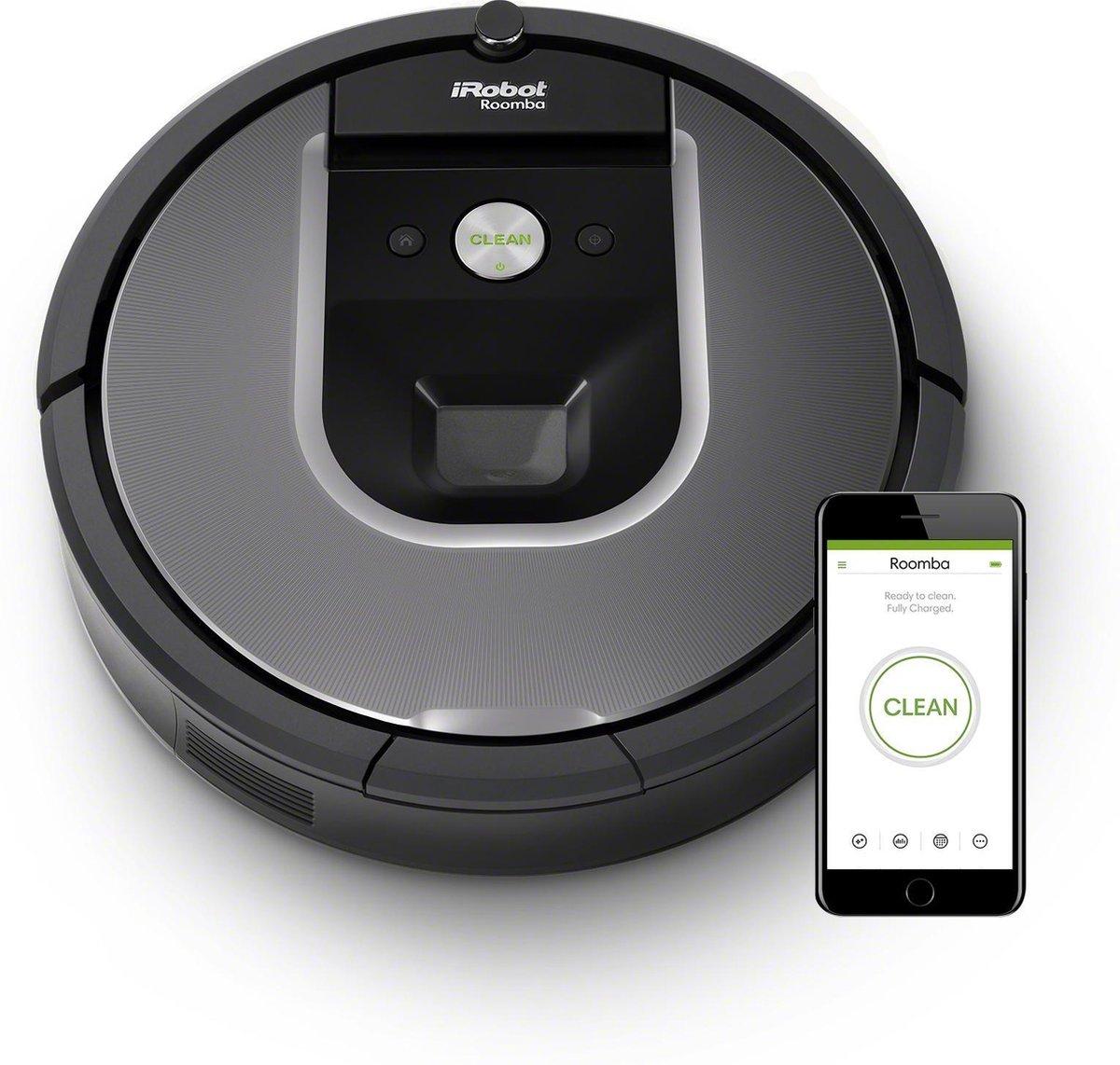iRobot Roomba 960 - Robotstofzuiger, grijs @Amazon.nl
