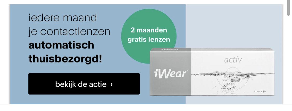 2 maanden gratis lenzen bij afsluiten lenzenabonnement @ Pearle