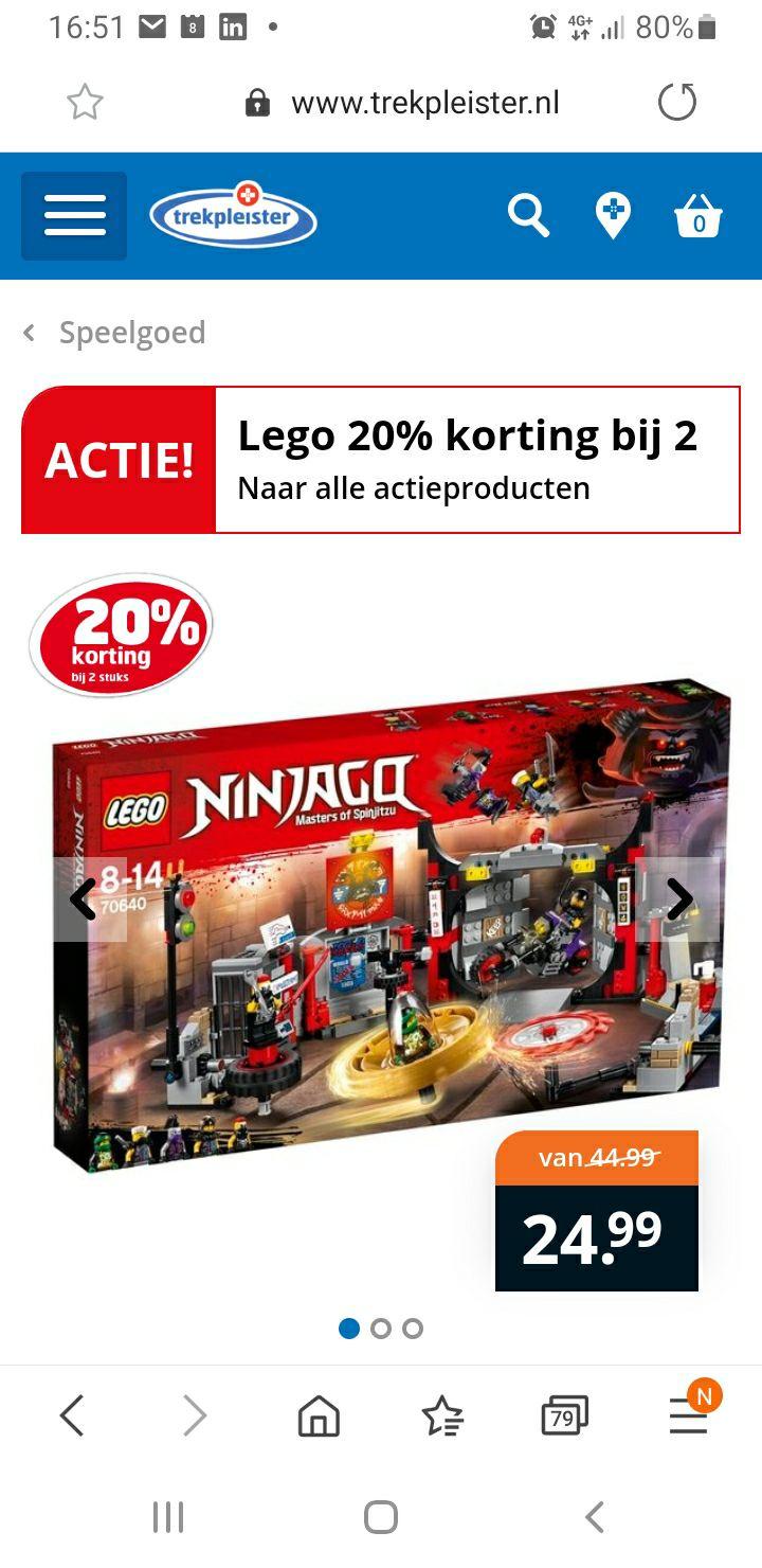 Trekpleister , Laagste prijs ooit: LEGO Ninjago 70640 S.O.G. hoofdkwartier