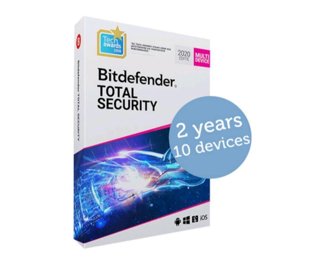 BitDefender Total Security 2020 (2 of 3 jaar, 10 apparaten)
