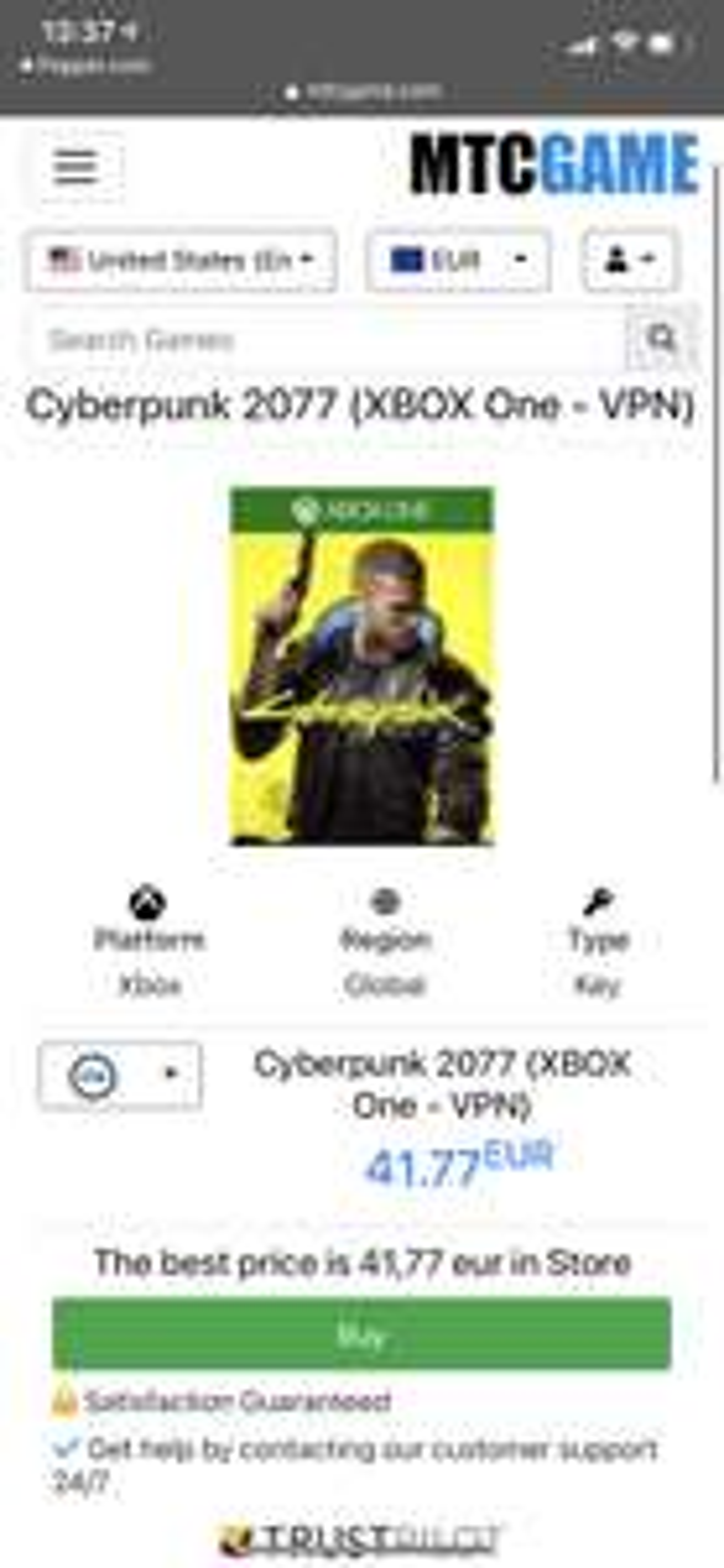 Cyberpunk 2077 (XBOX One - VPN)