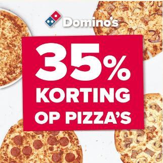 35% korting op pizza's bij Dominos (afhalen èn bezorgen)