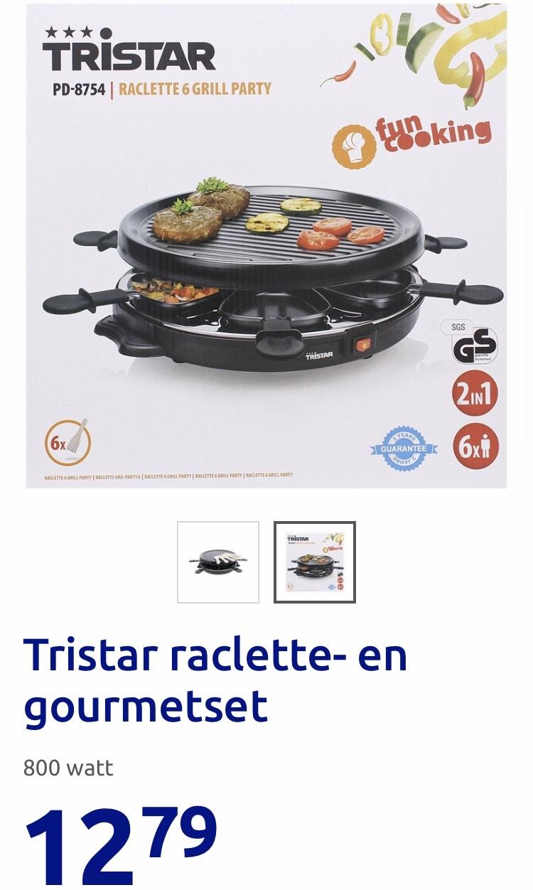 Tristar raclette- en gourmetset (800 watt)