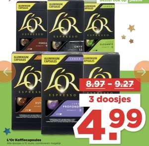 L'Or Koffiecapsules €0,16 per cup