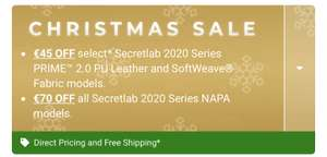 EXTENDED Christmas Sale op (bijna) alle Secretlab Gaming chairs!