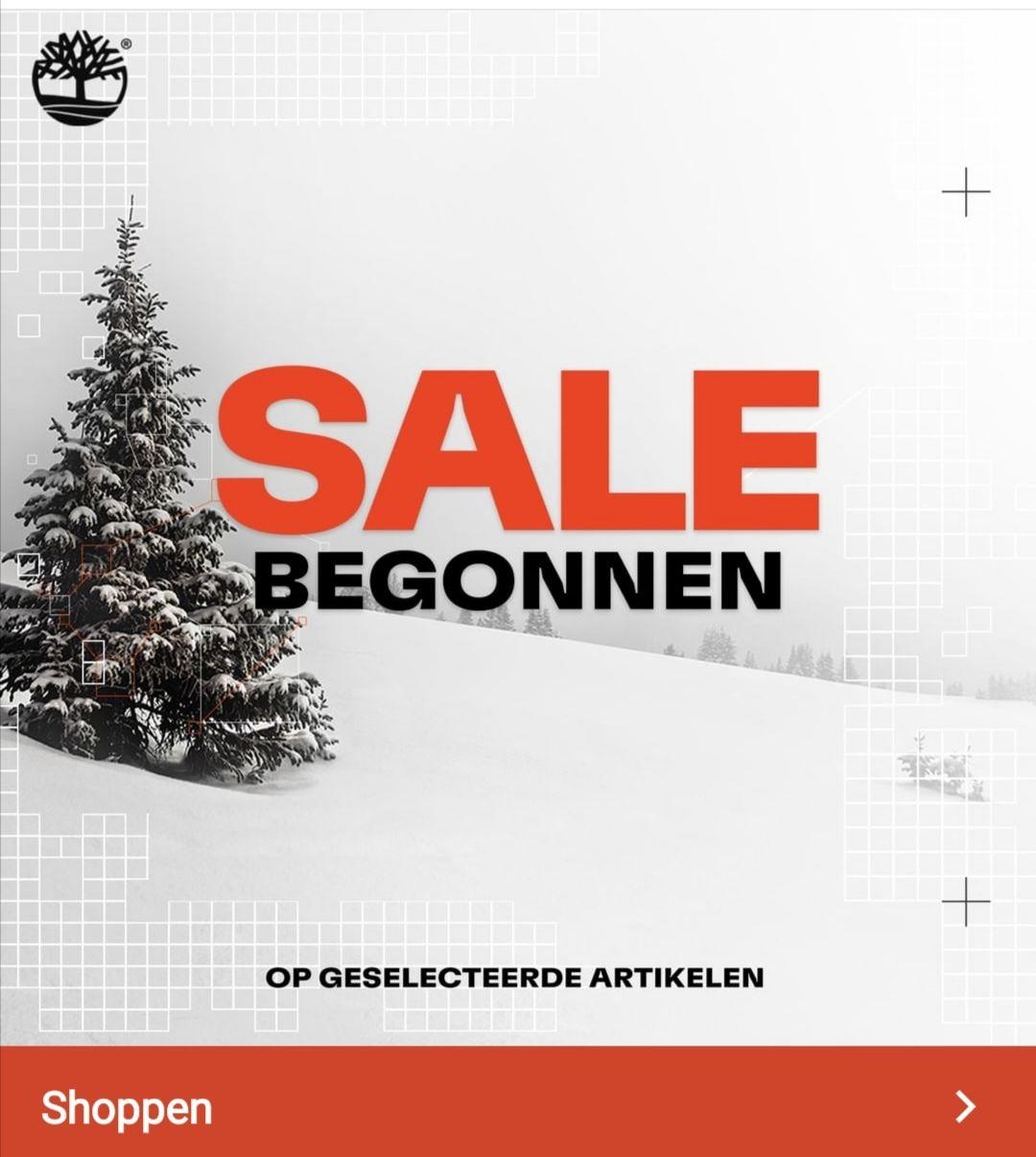 Sale bij timberland tot 50% korting