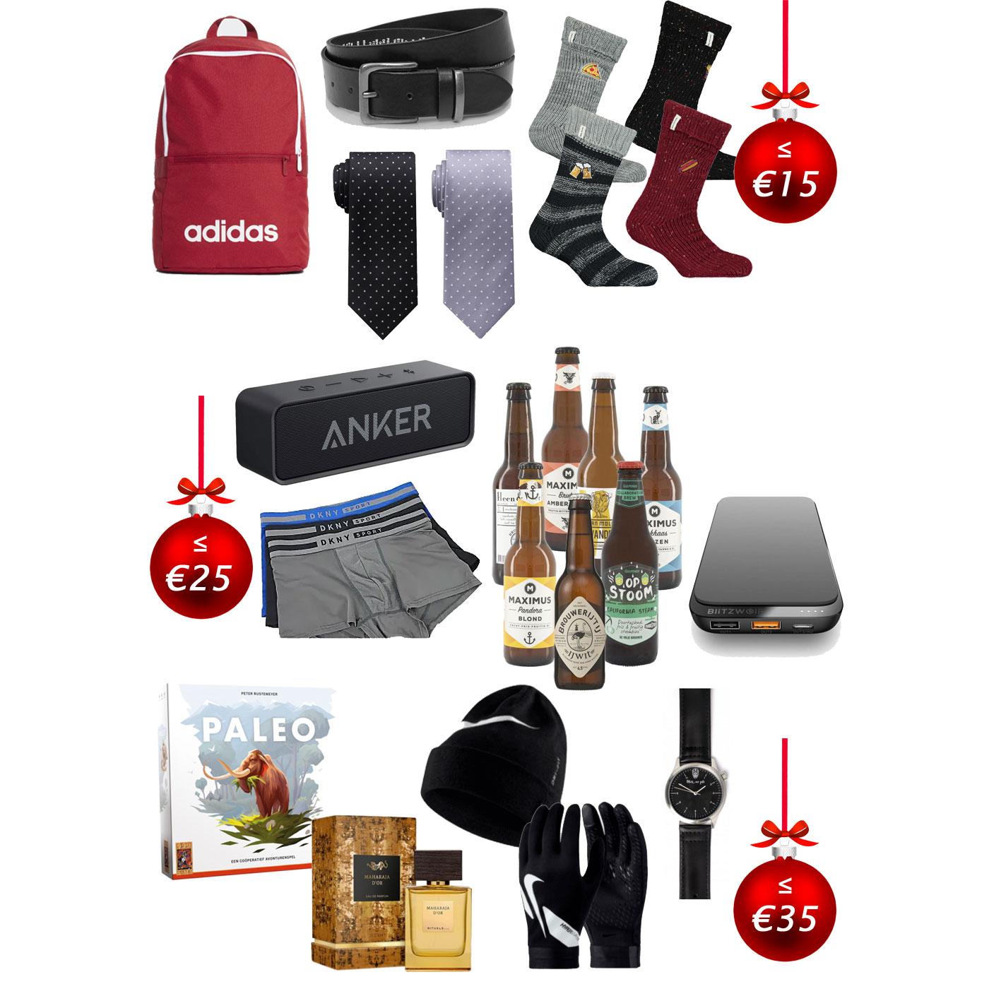 Kerst shoptips - 12 cadeautjes voor hem - van €7,50 tot €35