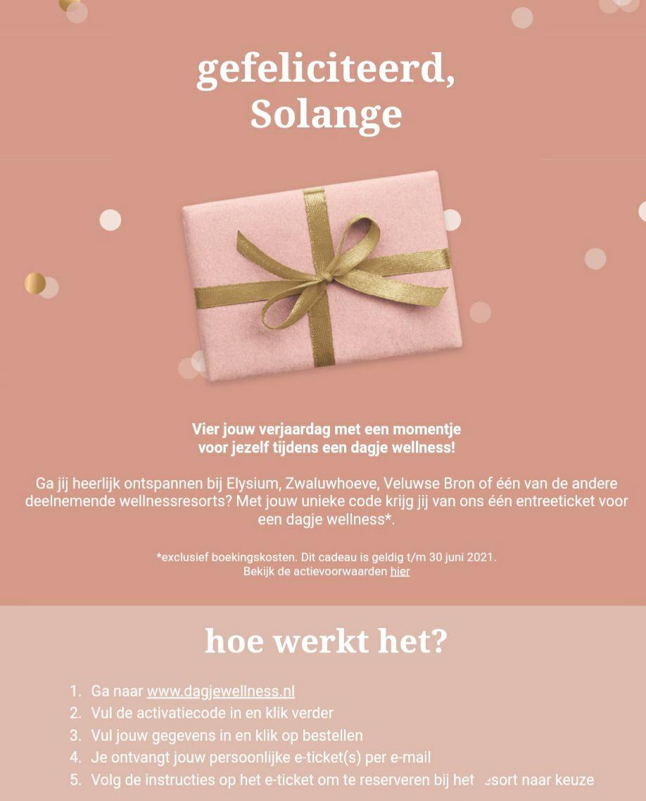 Sauna voucher voor 1 cadeau voor je verjaardag bij ETOS extra