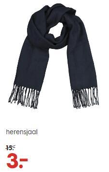 Sjaals voor heren, afgeprijsd van €15 naar €3 p.s. @ HEMA