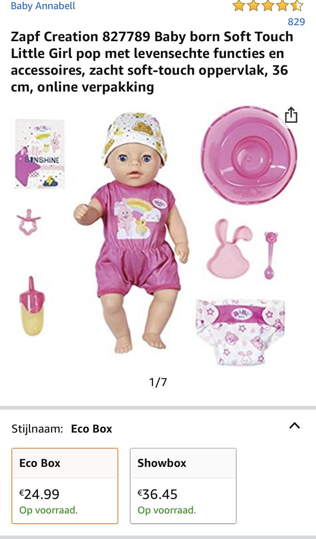 Baby Born kleine zus met accessoires