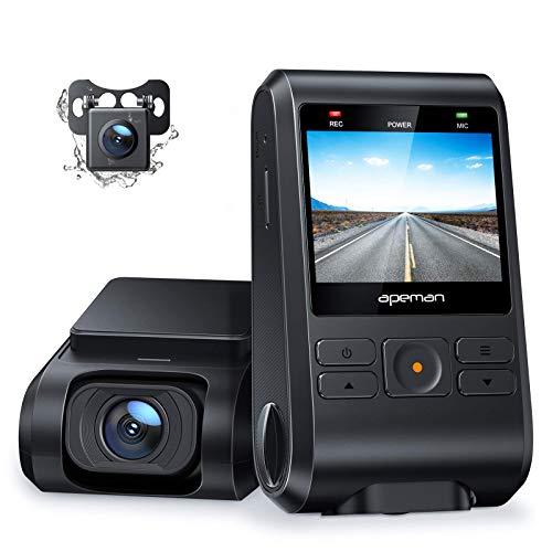 Apeman dashcam met 1080 P camera voor en 720 P camera achter