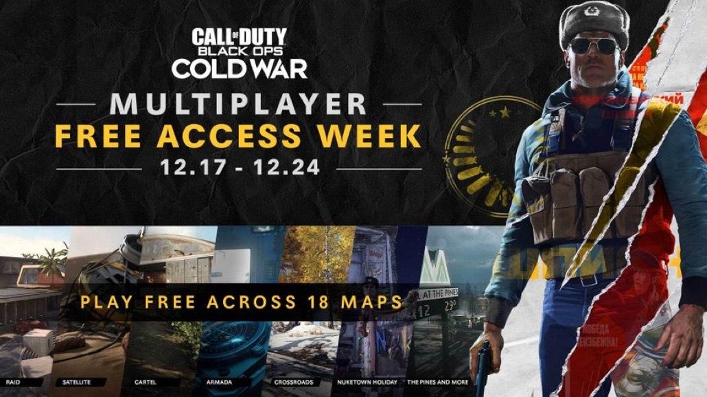 Gratis Multiplayer Week Call of Duty Black Ops Cold War