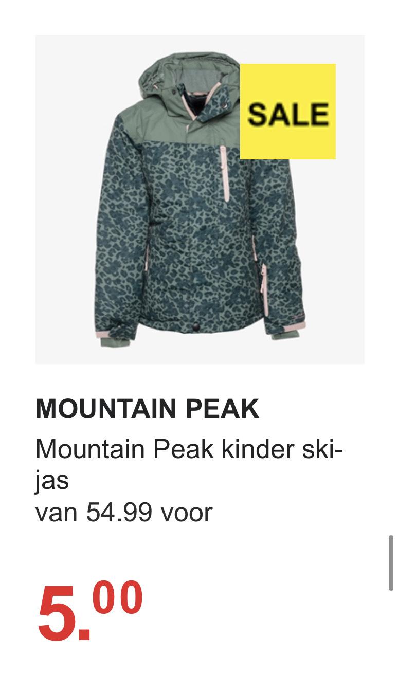 Mountain Peak kinder ski-jas