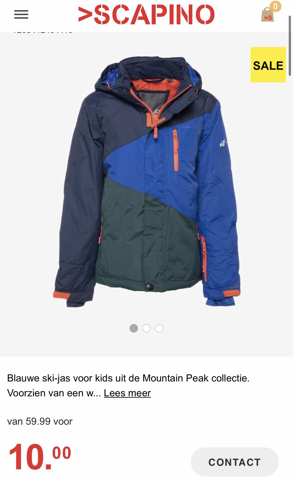 Mountain Peak kinder ski-jassen