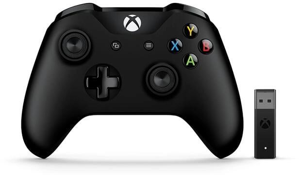 Microsoft Xbox Controller + Wireless Adapter