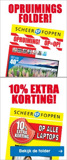 10% extra korting op alle laptops en desktops (+ €10 extra korting door code )  @ Scheer en Foppen