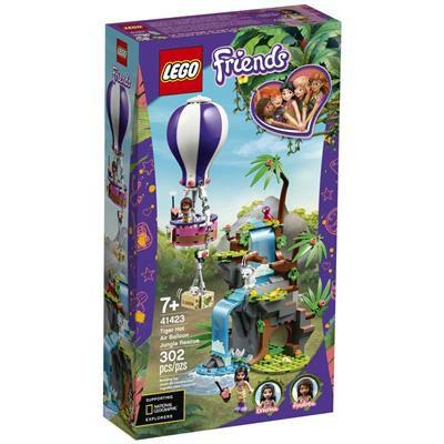 LEGO Friends tijger reddingsactie met luchtballon in jungle 41423