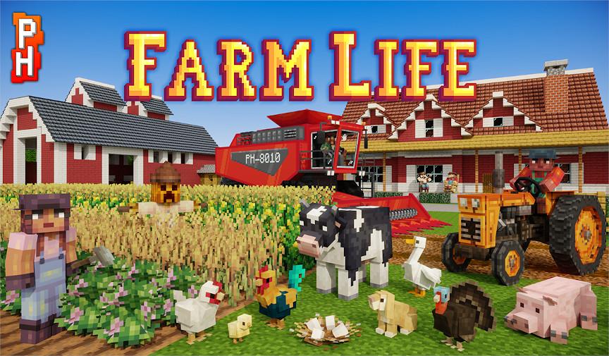 Minecraft Bedrock map Farm Life gratis