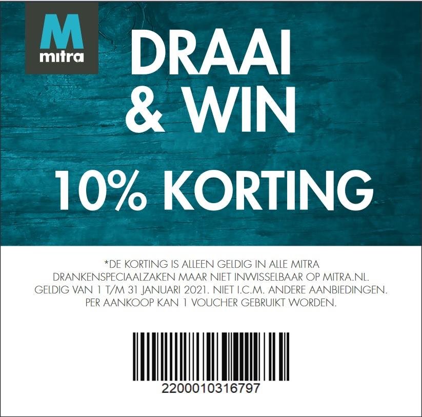 10% korting met bon @mitra (winkel)