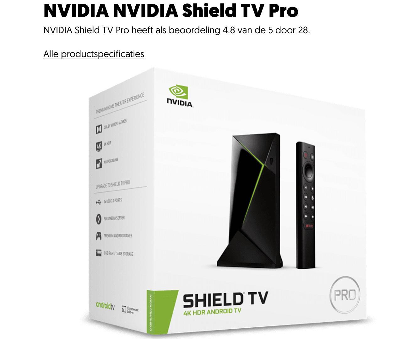 NVIDIA NVIDIA Shield TV Pro (nog goedkoper met trucjes)