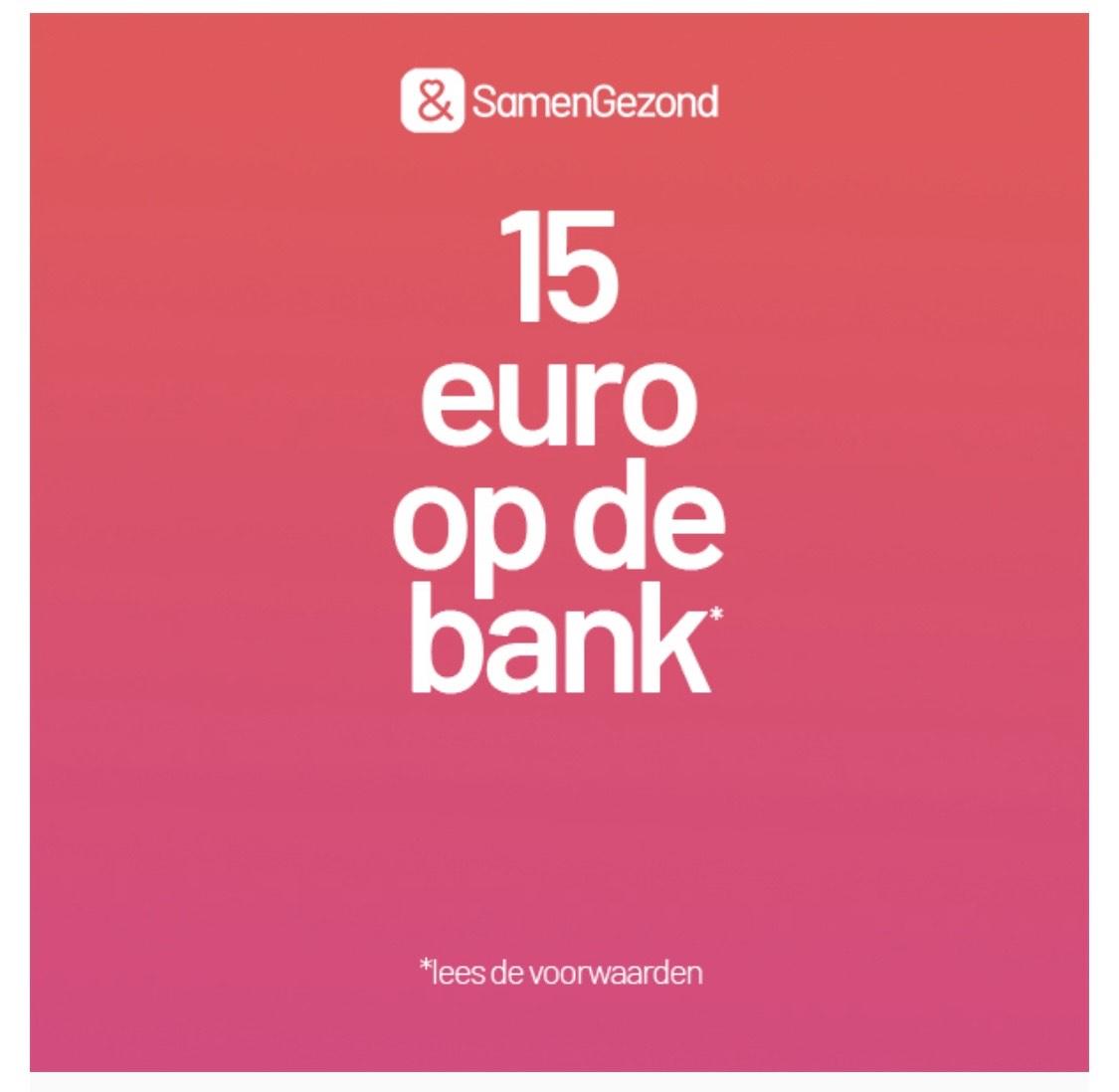 """€15 euro """"gratis"""" bij 4x je weekdoel SamenGezond met Menzis', Anderzorg of HEMA Alleen als je mail hebt ontvangen!"""