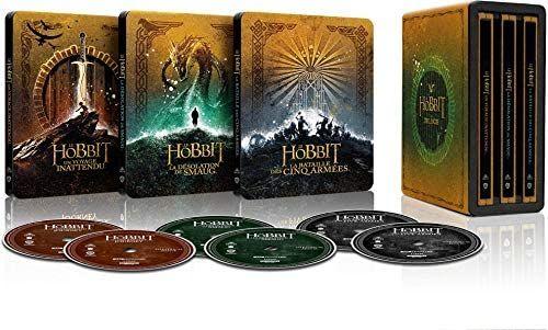 The Hobbit Trilogy (Steelbook) (4K Ultra HD Blu-ray) (Frans)
