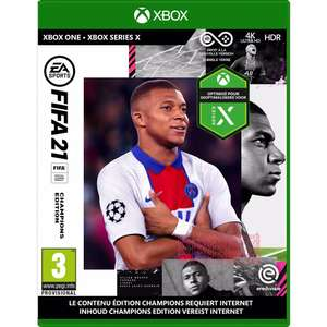 FIFA 21 Champions Edition Xbox One (inclusief Series X upgrade) @ BCC