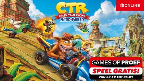 (NINTENDO ONLINE) speel gratis Crash Team Racing Nitro-Fueled