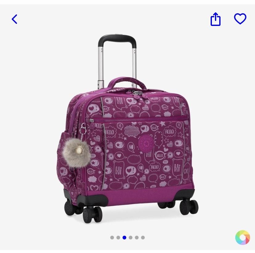 Kipling kindertrolley op wieltjes voor €67 bij bol.com. Was €179.
