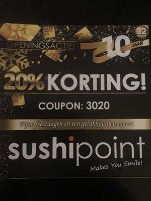 Lokaal - 20%korting Sushipoint Capelle a/d IJssel